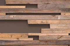 Small wood planks textures natural patterns for background Stock Photography