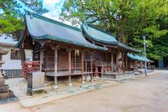 Small wood shrines in Dazaifu Tenmangu Stock Images