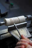 Small wood-turning lathe Royalty Free Stock Image
