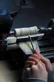 Small wood-turning lathe Royalty Free Stock Image
