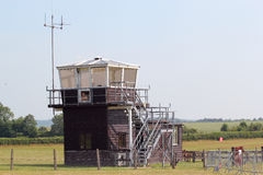 Small wooden airport control tower. Stock Images