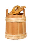 Small wooden barrel Royalty Free Stock Image