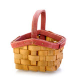 Small wooden basket Royalty Free Stock Images
