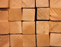 Small wooden beams. A close up of a pile wooden beams Stock Image