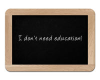 Small wooden blackboard Stock Photo
