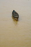 A small wooden boat royalty free stock photography
