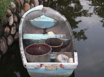 Small wooden boat Royalty Free Stock Photos