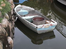 Small wooden boat Royalty Free Stock Image