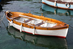Small wooden boat Royalty Free Stock Photography