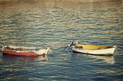 Small wooden boats Royalty Free Stock Image