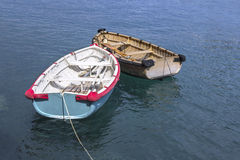 Small wooden boats Stock Images