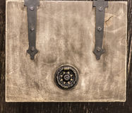 A small wooden box Royalty Free Stock Images