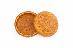 Small wooden box or container palm wood product, handicraft . Stock Images