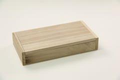 Small wooden box  on white. . Stock Photo