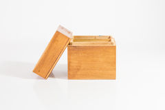 Small Wooden Box. On White Background royalty free stock photos