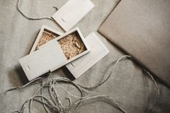 Small wooden box royalty free stock photography