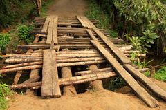 Small wooden bridge Royalty Free Stock Photos