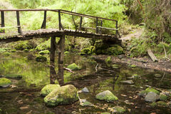 Small wooden bridge Stock Image
