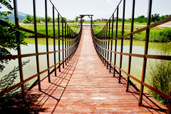 Small wooden bridge Stock Photos