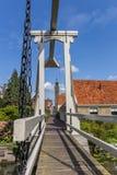 Small wooden bridge in the historic cenetr of Edam Stock Image
