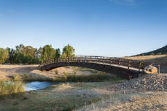 Small wooden bridge Royalty Free Stock Photography