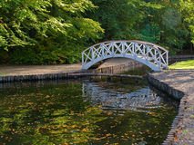 Small wooden bridge over river Royalty Free Stock Photography