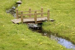 Small wooden bridge Royalty Free Stock Images