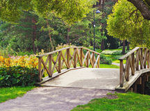 Small wooden bridge Royalty Free Stock Photos