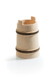 Small wooden bucket Royalty Free Stock Images