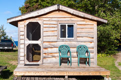 Small wooden cabin Royalty Free Stock Photography