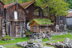 Small wooden cabin Stock Images