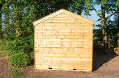 Small wooden cabin Royalty Free Stock Image