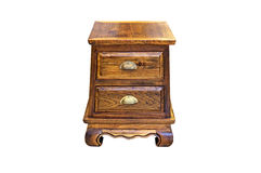 Small wooden cabinet isolated Royalty Free Stock Photography
