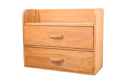 Small wooden cabinet isolated Stock Images