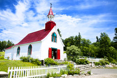 Small Wooden Chapel. The oldest wooden chapel in North-America in a sunny day Stock Photo
