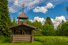 Small wooden chapel, Finland. Small wooden chapel in Finland near Bomba historical site in Finland Stock Images
