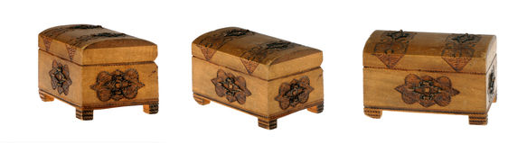 Small wooden chest Royalty Free Stock Images
