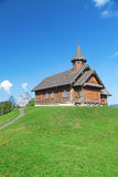 Small wooden church Royalty Free Stock Photo