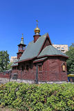 Small wooden church of St. Ioann Russian Stock Image