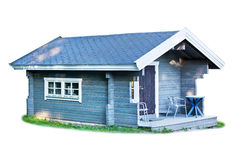 Small wooden cottage Stock Photo