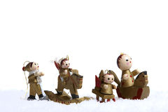 Small wooden figures Royalty Free Stock Photography