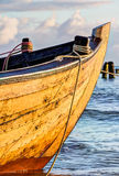 Small wooden fishing boat Stock Image