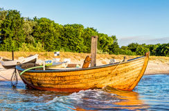 Small wooden fishing boat Royalty Free Stock Image