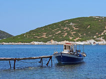 Small Wooden Fishing Boat, Skyros, Greece Royalty Free Stock Photo