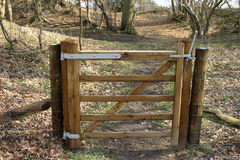 Small wooden gate Stock Photo
