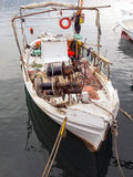 Small Wooden Greek Fishing Boat Royalty Free Stock Images