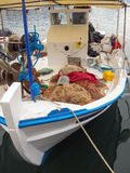 Small Wooden Greek Fishing Boat Royalty Free Stock Photo