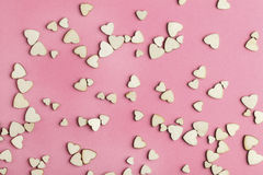 The small wooden hearts Stock Photo