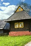 Small wooden house. Example of old rural architecture royalty free stock photography