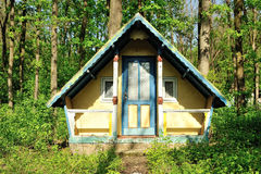 Small wooden house abandoned in the forest Royalty Free Stock Image